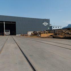 Loacation_Bilder_2_node33_Gleisanschluss und Lagerboxen - Sicht auf die neue Werkstatt