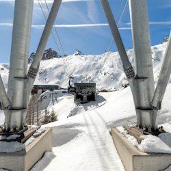 Kaprun - 3K Bergstation Letzte Stütze von unten
